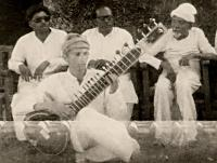 back row right is Allauddin Khan